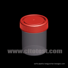 80 Ml Plastic Specimen Container with Triple Molded Graduation