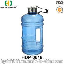 Große kundenspezifische 2.2L BPA-freie PETG-Wasser-Flasche, große Plastikwasser-Flasche (HDP-0618)