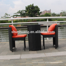 Eco-friendly leisure outdoor furniture plastic rattan weaved garden dining set