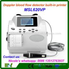 MSL620VP-i Detector de flujo sanguíneo doppler aprobado CE, máquina portátil Doppler vascular incorporada en la impresora