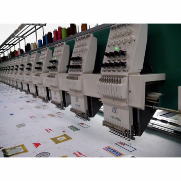 Computerized 24 Heads High Speed 1200rpm Flat Embroidery Machine
