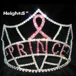 Crystal Ribbon Pageant Crowns with PRINCE