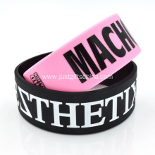 1 Inch Printed Silicone Wristbands PMS Matched