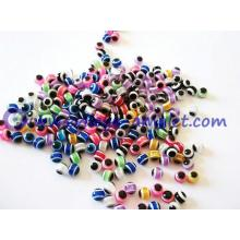 Turkish evil eye multicolor resin beads wholesale