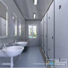 Flat roof modular house, prefabricated house, toilets container house