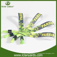 Bracelets d'impression personnalisés personnalisés et personnalisés pour la fête