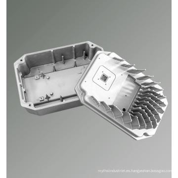 Cubierta de aluminio del disipador de calor del proveedor del bastidor de China para la máquina integrada