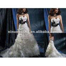 Sweetheart Neckline luxuoso vestido de noiva saia