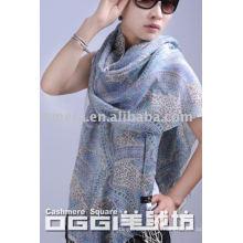 ladies' fashion mercerized wool scarf/shawl