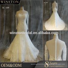 Melhores vendas de qualidade para vestidos de casamento brancos e de champanhe de saia inchada