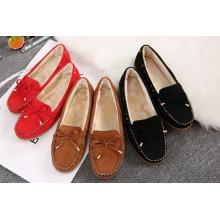 Bombas de punta redonda con zapatos casuales bowknot Zapatos femeninos de ocio