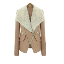 2 Colors Winter Women Fashion Turn-Down Collar Long Sleeve Coat