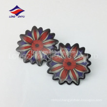 Printing metal cloth bags epoxy lapel pin for sale