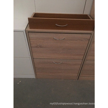 Cheap Price Two Doors Wooden Shoe Cabinet