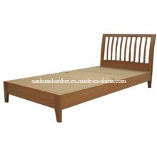Cama de madera elegante sólida solo y doble