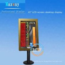 pantalla LCD de escritorio de 10.2 pulgadas para casino