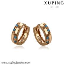 93387 Haute qualité pas cher bijoux turquoise en alliage de cuivre filles huggies boucles d'oreilles pour la vente en gros