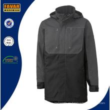 Acolchado de Rusia frío estilo largo invierno impermeable al viento chaqueta de trabajo