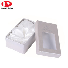 Boîte à bracelet en papier brillant avec insert en satin
