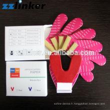 30u 50u 100u d'épaisseur rouge dentaire Chaussures de cheval Articulation du papier