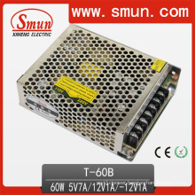 60W 5V7a/12V1a/-12V1a Triple Output Switching Power Supply