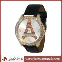 2016fashion Rosegold White Band Wrist Watch pour les dames