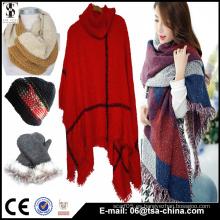 Producción y Venta al por mayor toda la manera de las clases nueva bufanda / mantón del invierno del diseño