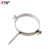 Abrazaderas de tubería simple de acero métrico con tornillo