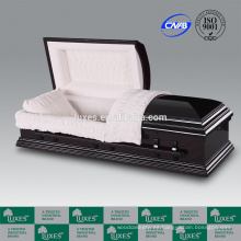 LUXES alta calidad ataúd ataúd madera de cremación