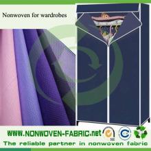 Tissu de garde-robe, tissu non-tissé de pp pour la garde-robe