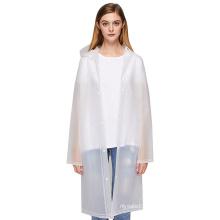 Translucent EVA adult raincoat