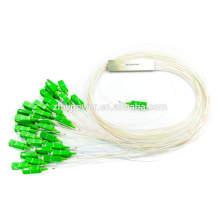 Fibra óptica divisor, 1x8 1x16 1x32 divisor de fibra micro, divisor plc con conector sc apc / upc