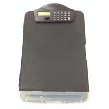 Cadeau promotionnel pour la boîte de dossier avec la calculatrice, boîte de dossier Oi27001