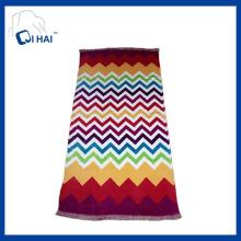 Algodão impresso toalha de praia borlas (qhb7745)