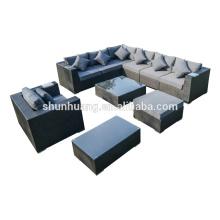 Outdoor wicker sofa furniture rattan sectional long corner sofa sets