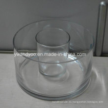 Candelero de cristal vacío grande / regular del tarro