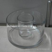 Grande / Suporte de vela de vidro vazio regular do frasco
