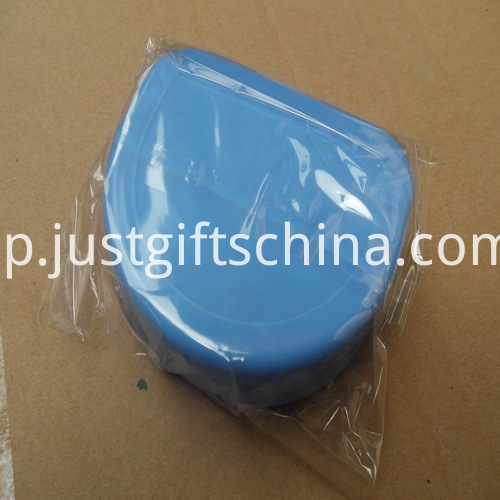 Promotional Flat Blue Color Denture Box_4