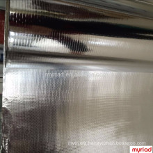 Aluminum Foil Woven Fabric, foil insulation,Reflective And Silver Roofing Material Aluminum Foil Faced Lamination