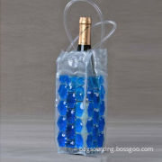 reusable new style promotional PVC gel wine cooler bag