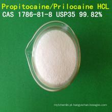 Cloridrato do propitocaine da pureza alta de USP / hidrocloro de Prilocaine / CAS HCl CAS 1786-81-8 anestésico API do Prilocaine