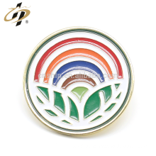 Shuanghua factory custom enamel rainbow metal pins