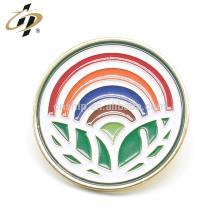 Shuanghua fábrica personalizado esmalte arco-íris pinos de metal