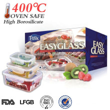 L Best selling products food container glass