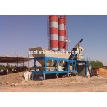 50m3/h mobile concrete batching plant
