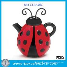 China Manufacture Cute Lady Beetle Animal Teapot