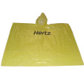 Promotional disposable rain poncho with customized logo