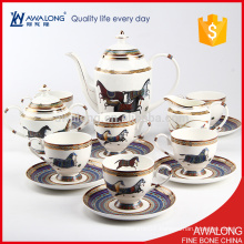 Royal Style Bone China Coffee Cups for 6 person has beautiful Design