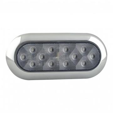 6 inci Oval Trailer DOT / SAE belakang Reverse LED Light