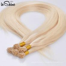 La plus haute qualité 100% Remy I -Tip avec prolongation de cheveux italienne Keratin Nano Ring